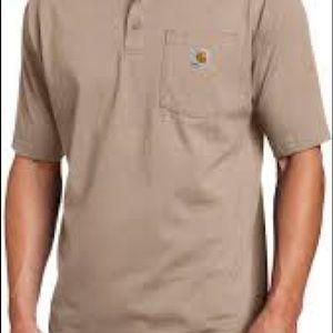 Carhartt size 2xl men's brown shorts sleeve shirt.